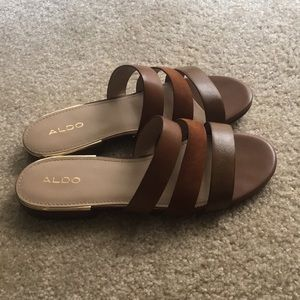 Brown Aldo sandals